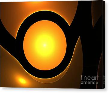 Orange Eye Canvas Print by Steve K
