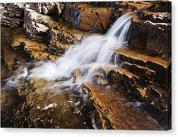 Riverscape Canvas Print - Orange Falls by Chad Dutson