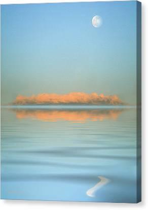 Orange Fog Canvas Print by Jerry McElroy