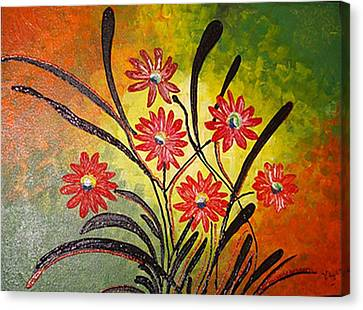 Orange For Happiness  Canvas Print by Xafira Mendonsa