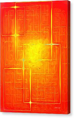 Orange Geometry - Da Canvas Print by Leonardo Digenio