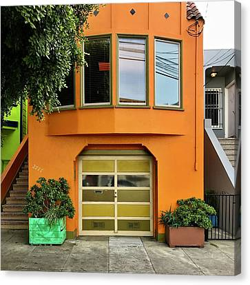 Orange House Canvas Print by Julie Gebhardt
