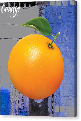 Orange Is The New Black Canvas Print by Marvin Blaine