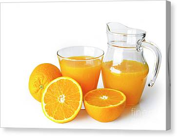 Orange Juice Canvas Print by Carlos Caetano