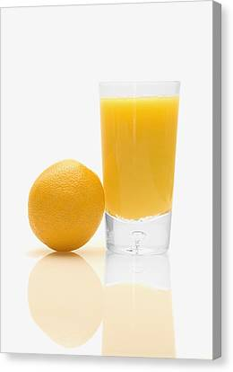 Orange Juice Canvas Print by Darren Greenwood
