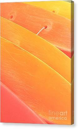 Orange Kayaks Canvas Print by Brandon Tabiolo - Printscapes