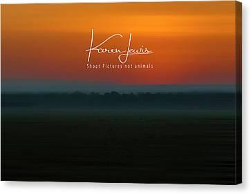 Canvas Print featuring the photograph Orange Mara Dawn by Karen Lewis