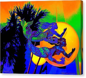 Orange Moon Synchronicity Canvas Print