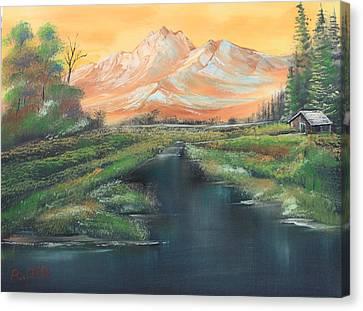 Orange Mountain Canvas Print