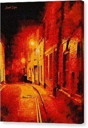 Empty Canvas Print - Orange Night - Pa by Leonardo Digenio