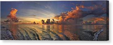 Orange Panorama Canvas Print