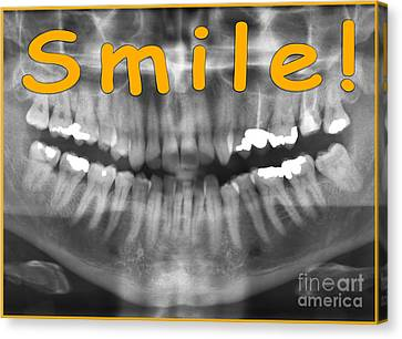 Orange Panoramic Dental X-ray With A Smile  Canvas Print by Ilan Rosen