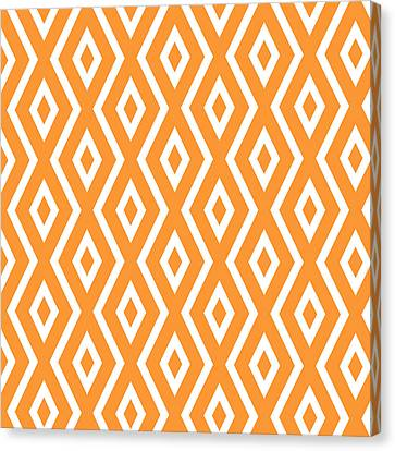Orange Pattern Canvas Print by Christina Rollo