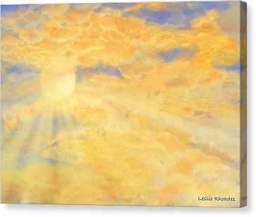 Canvas Print - Orange Peak by Leslie Rhoades
