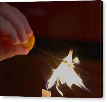 Orange Peel Flame Thrower. Canvas Print by John King