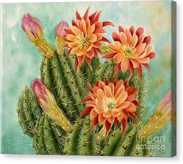 Orange Pin Cushion  Canvas Print
