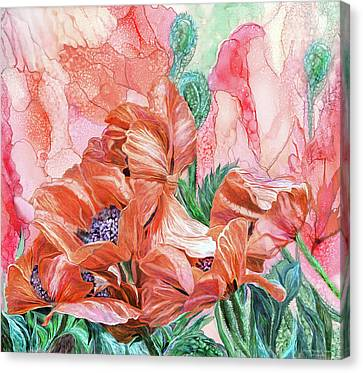 Summer Flowers Canvas Print - Orange Poppies Of Summer by Carol Cavalaris