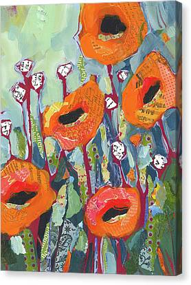 Orange Poppies Canvas Print by Shelli Walters