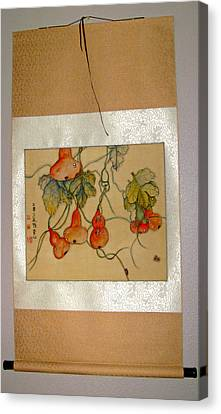 Canvas Print featuring the painting Orange Prevails by Debbi Saccomanno Chan
