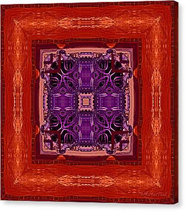 Canvas Print featuring the photograph Orange Red And Purple Kaleidoscope by Barbara MacPhail