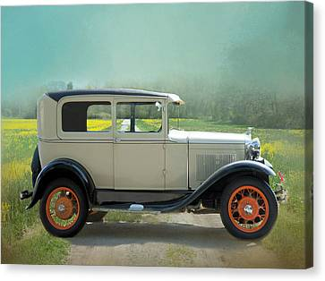 Canvas Print featuring the photograph Orange Rims by Robin-Lee Vieira