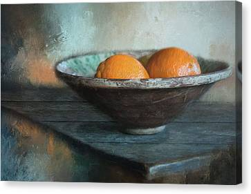 Canvas Print featuring the photograph Orange by Robin-Lee Vieira