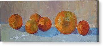 Canvas Print - Orange Roll by Donna Shortt