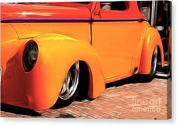 Orange Rush - 1941 Willy's Coupe Canvas Print by Darleen Stry