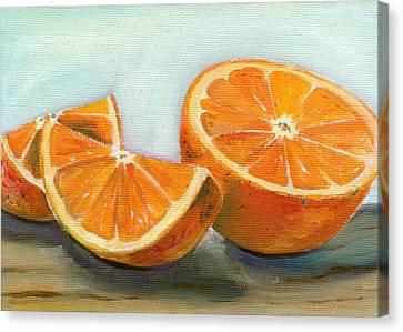 Orange Canvas Print by Sarah Lynch
