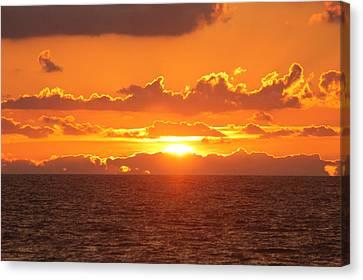 Orange Skies At Dawn Canvas Print