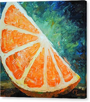 Orange Slice Canvas Print