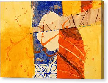 Orange Splatter 4 Canvas Print by Nancy Merkle