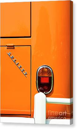 Orange Splitty Canvas Print