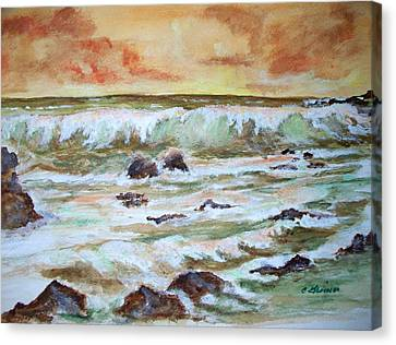Orange Sunset Canvas Print by Carol Grimes
