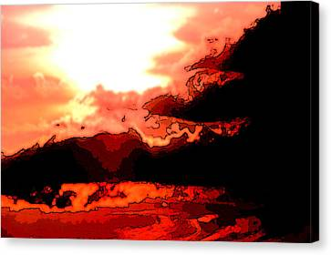 Orange Sunset Canvas Print by Kimberly Camacho