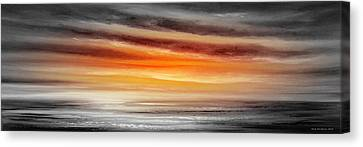 Orange Sunset - Panoramic Canvas Print