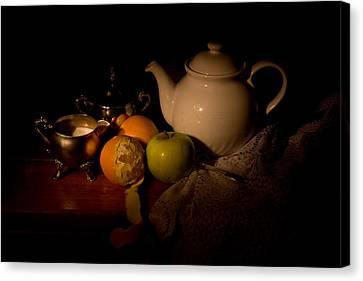 Orange Tea Canvas Print by Levin Rodriguez