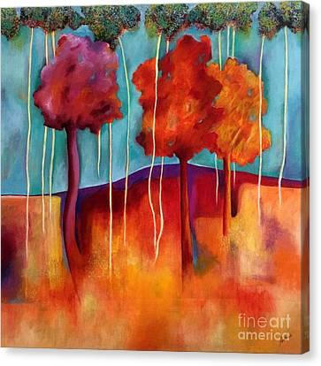 Orange Trees Canvas Print