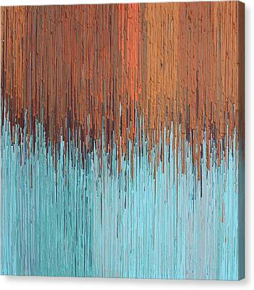 Orange Turquoise  Canvas Print by Kate Tesch