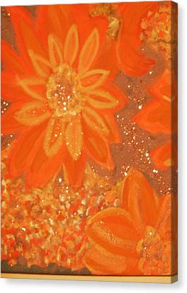 Orange You Glad You Like Orange Canvas Print by Anne-Elizabeth Whiteway