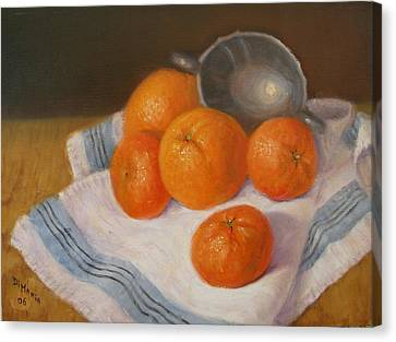 Oranges And Tangerines Canvas Print by Donelli  DiMaria