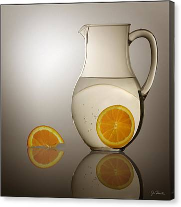 Canvas Print featuring the photograph Oranges And Water Pitcher by Joe Bonita