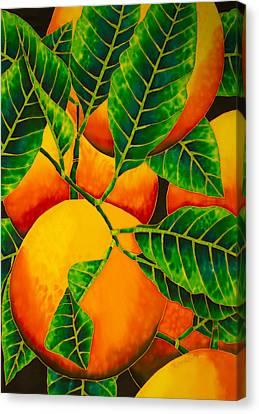 Oranges Canvas Print by Daniel Jean-Baptiste