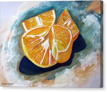 Oranges Canvas Print by Elizabeth Kendall