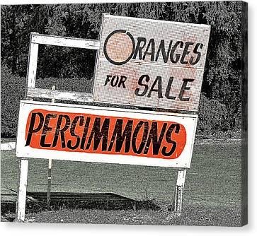 Oranges For Sale Canvas Print by Charlette Miller