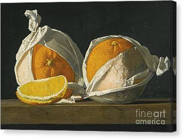 Oranges Wrapped Canvas Print by MotionAge Designs