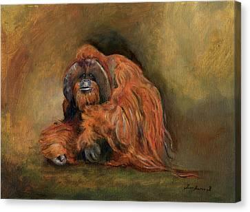 Orangutan Canvas Print - Orangutan Monkey by Juan Bosco