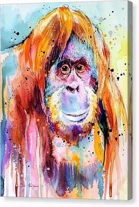 Orangutan  Canvas Print by Slavi Aladjova