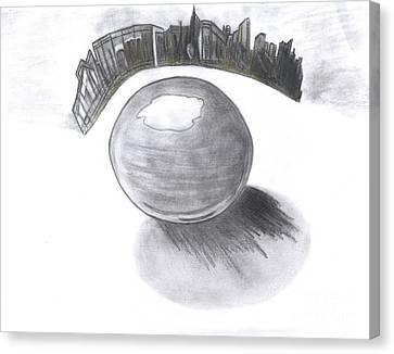 Orb Landing Canvas Print