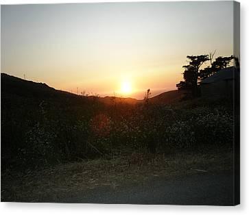 Orbs At Sunset Canvas Print